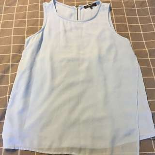 Piper Sky Blue Double Layered Blouse