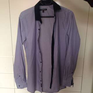 Light purple striped shirt