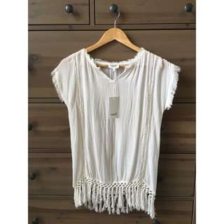 SEED™ White Crochet Top