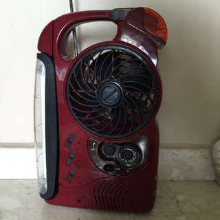 Portable Fan, Radio, Fluorescent Light
