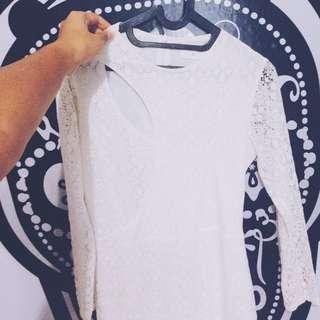 preloved gaudi white dress