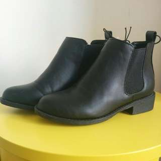 Black Boots By Cotton On Size 36 (AU 6)