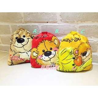 草莓公園【拍立得相機包束口袋】日本卡通 梨花熊 Suzy s Zoo Boof  化妝包 收納袋