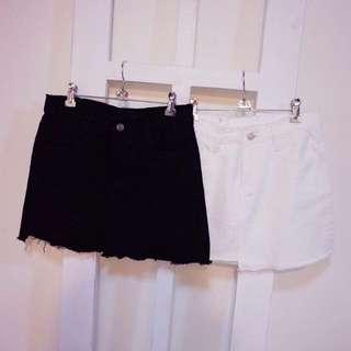 黑色牛仔短裙(免運