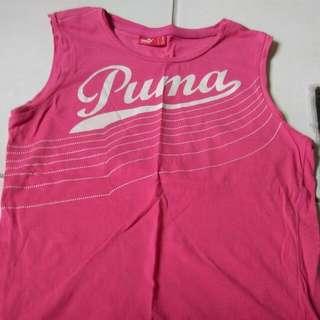 正版puma粉色背心 8成新