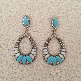 Mode Blue Earrings