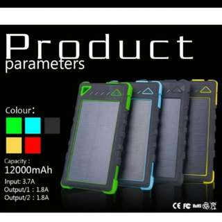 12000 MAh 3-in-1 Power Bank + Phone Charger (Green/Yellow/Blue/Red)