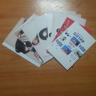 NOT OFFICIAL SISTAR PHOTOCARDS