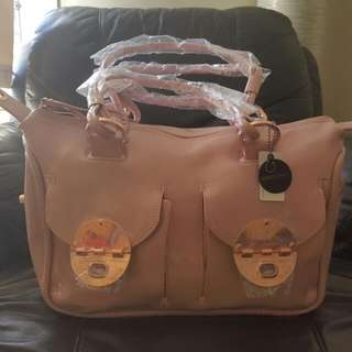 Mothers Day Gift! BLOSSOM PINK LARGE ZIP TOP BAG WITH ROSE GOLD HARDWARE!