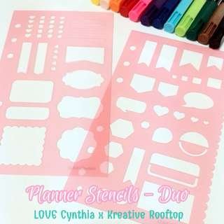 [SOLD OUT] Love Cynthia - Planner Stencils Duo