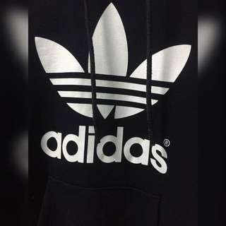 adidas愛迪達帽T 黑白基本款