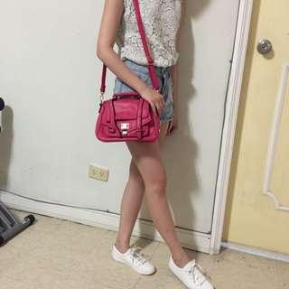 韓國桃粉色小包