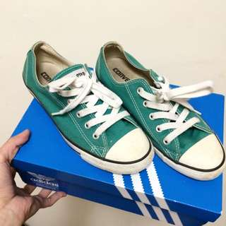Converse All Star 綠色帆布鞋