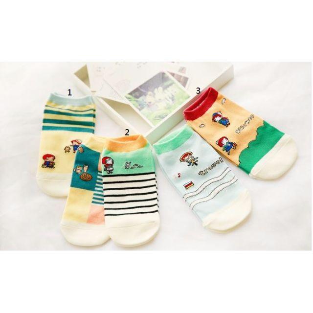 [買4送1]✨郊遊系✨韓版女孩兒甜心糖果襪品 短襪 女襪 船襪 低筒襪 襪子 🎀