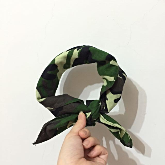迷彩方巾頭巾