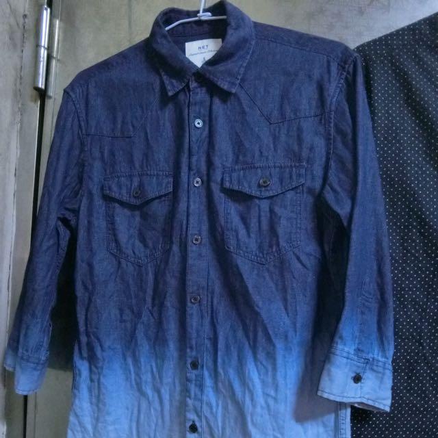NET漸層七分袖襯衫