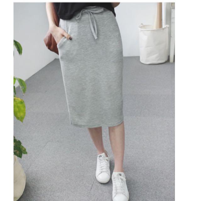 全新窄棉裙