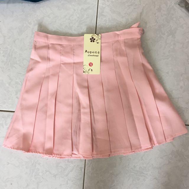 粉色百褶裙(有內裏)