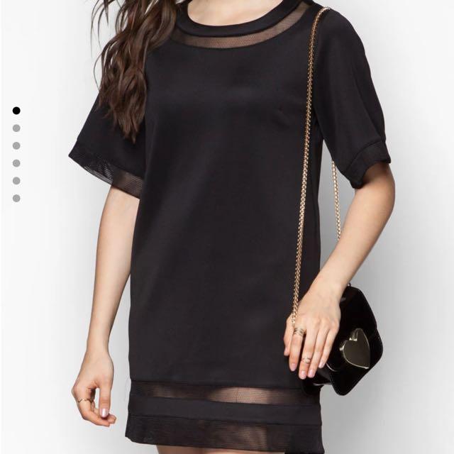 全新網眼黑色洋裝