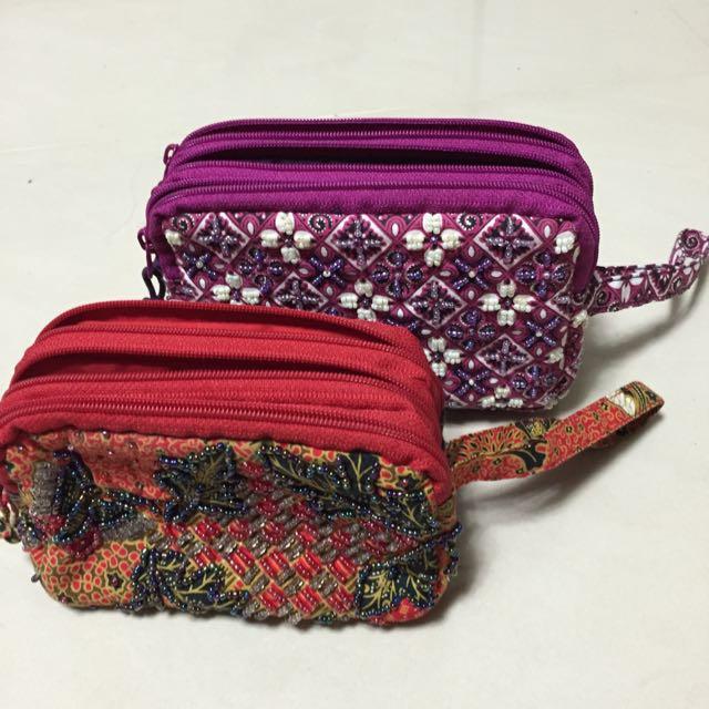 印尼手工製珠扣化妝包