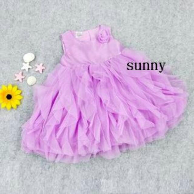 紫色夢幻洋裝禮服