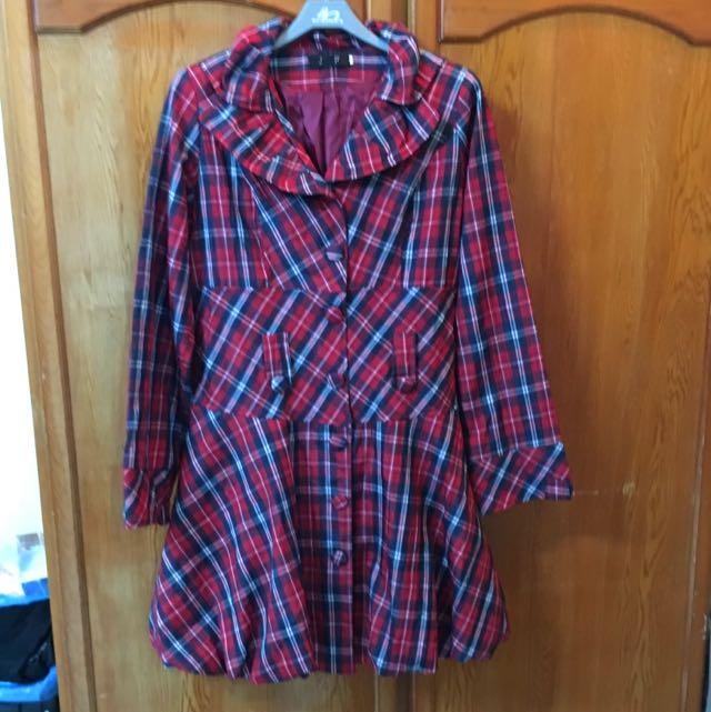 紅色格子裙