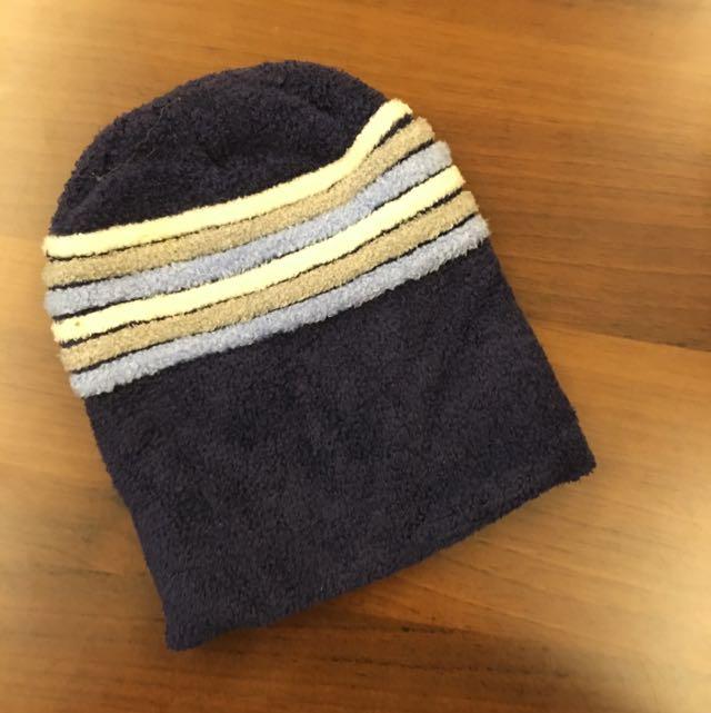 藍色毛帽 兒童 可愛 保暖