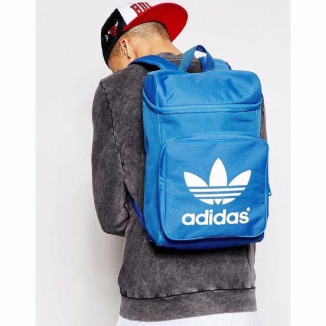愛迪達 後背包 Adidas 淺藍 水藍 藍色