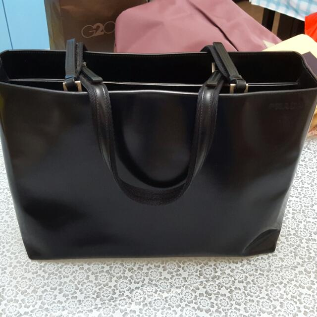 05b01add632c Authentic Pre Owned Vintage Full Leather Prada Tote Bag