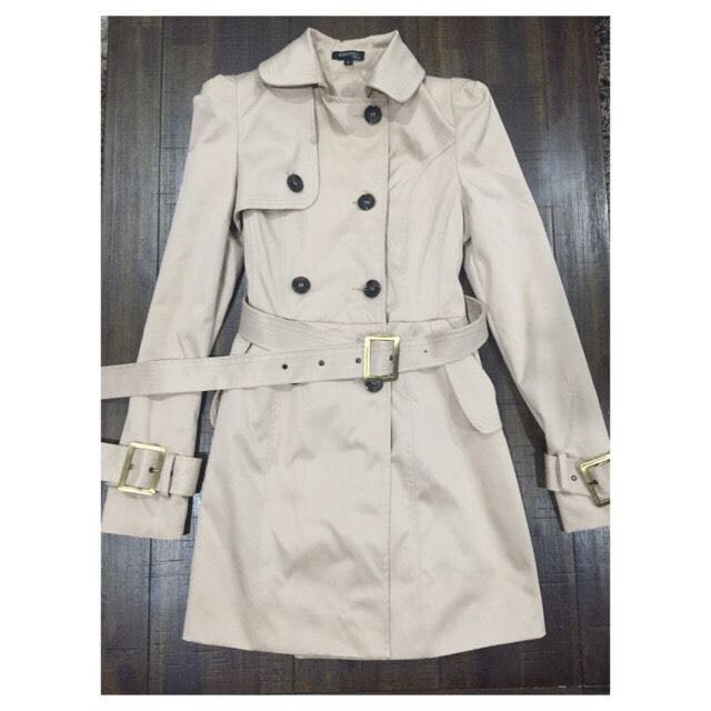 BARIANO BEIGE WINTER JACKET TRENCH COAT LEOPARD LINING NEW 6-8