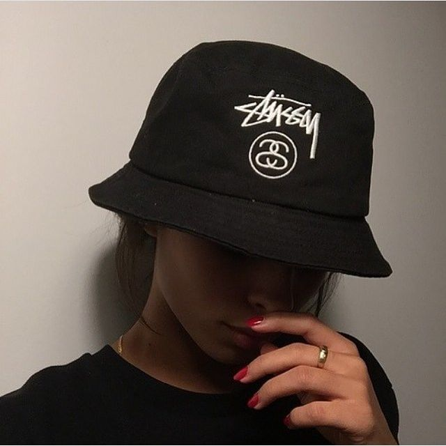 Black Stussy Bucket Hat