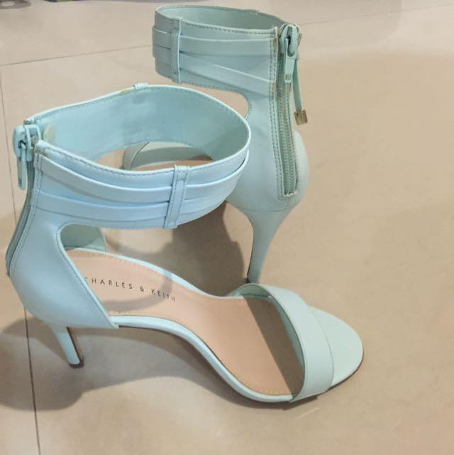 Blue Charles & Keith Short Heels