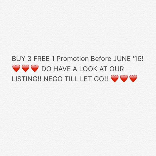 BUY 3 FREE 1 PROMOTION