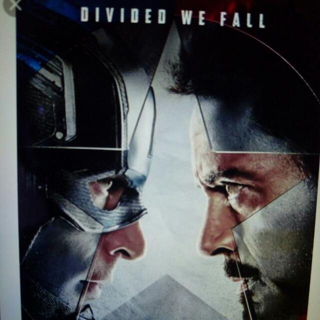 Captain America Civil War Movie Ticket