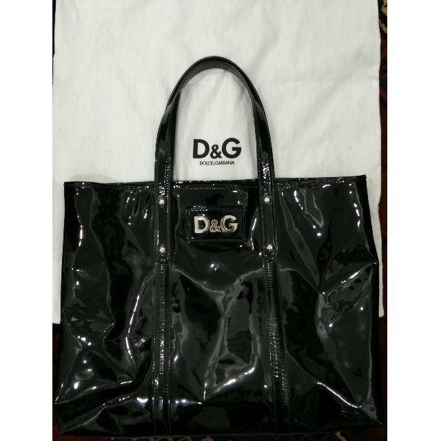 Authentic DOLCE & GABBANA large patent leather overnight tote