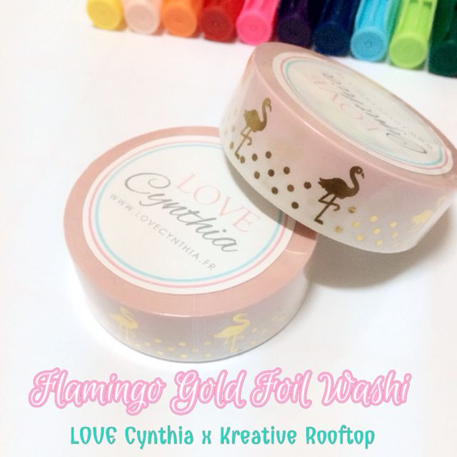 [SALE] Love Cynthia - Flamingo Gold Foil Washi