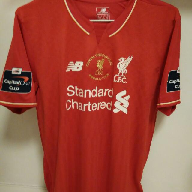Liverpool Capital One Cup Final Jersey, Sports on Carousell