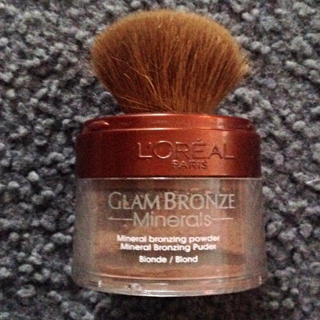 Loreal Glam Bronze Minerals Bronzer In Blonde