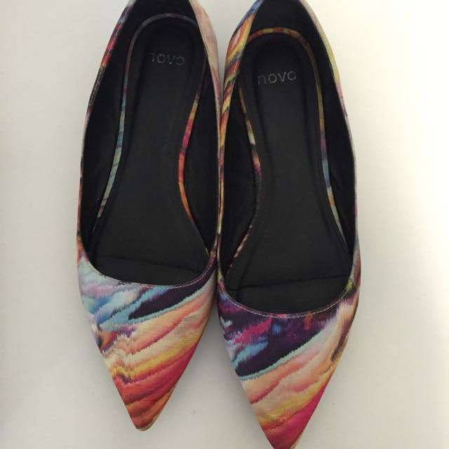 Novo Rainbow Pointed Flats