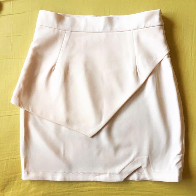 Light Peach Asymmetric Skirt