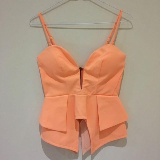 Peach Asymmetric Top