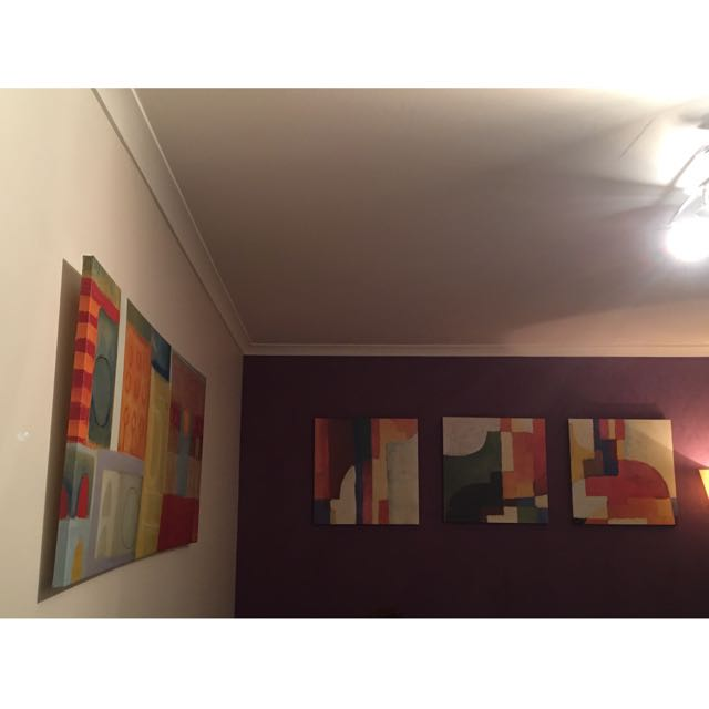 Set Of 4 Abstract Paintings
