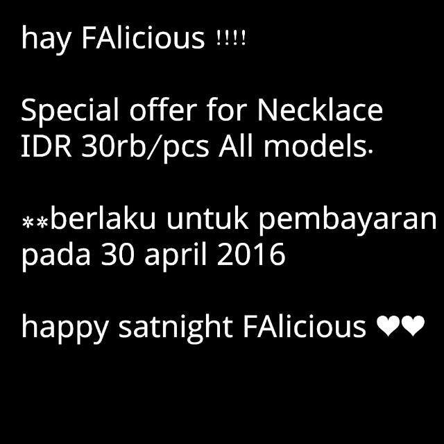 Special Offer For Necklace