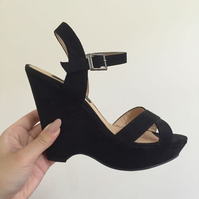 Suede Wedges - Size 7