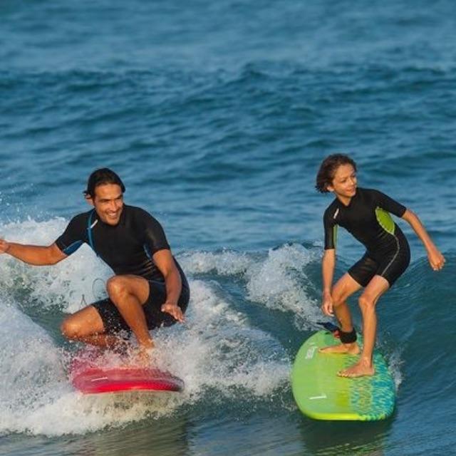 TRIBORD 100 6' Surfboard + Leash