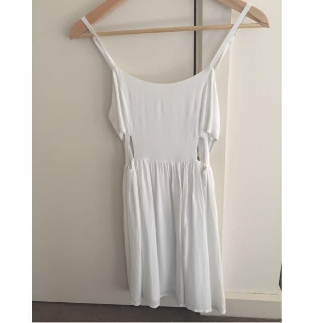 White Strappy Dress XS