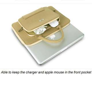 "BUBM13"" Mac Air / other brand slim notebook velvet hand carry bag"