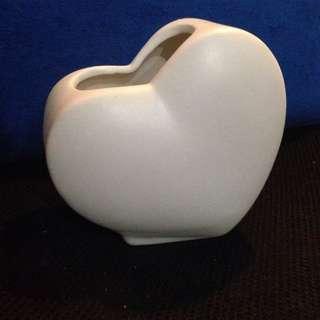 白色心型筆筒擺設Heart Pen Cup 結婚 情人節 禮物