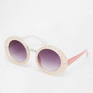 Jeepers Peepers 粉色立體膠框太陽眼鏡