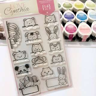 [SOLD OUT] Love Cynthia's Clear Stamps - Peek A Boo! (14pcs)